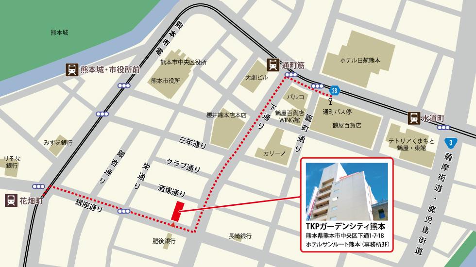 TKPガーデンシティ熊本アクセスマップ