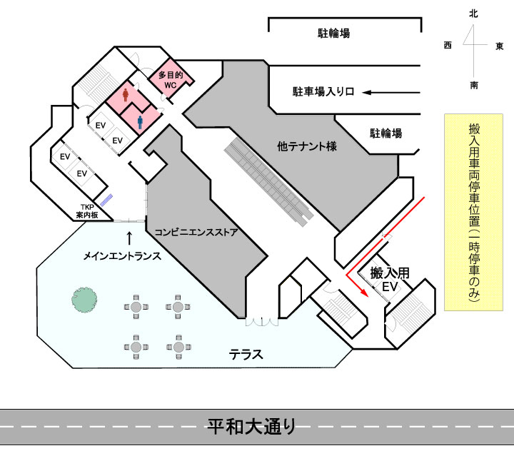 TKPガーデンシティ広島駐車場・搬入経路のご案内
