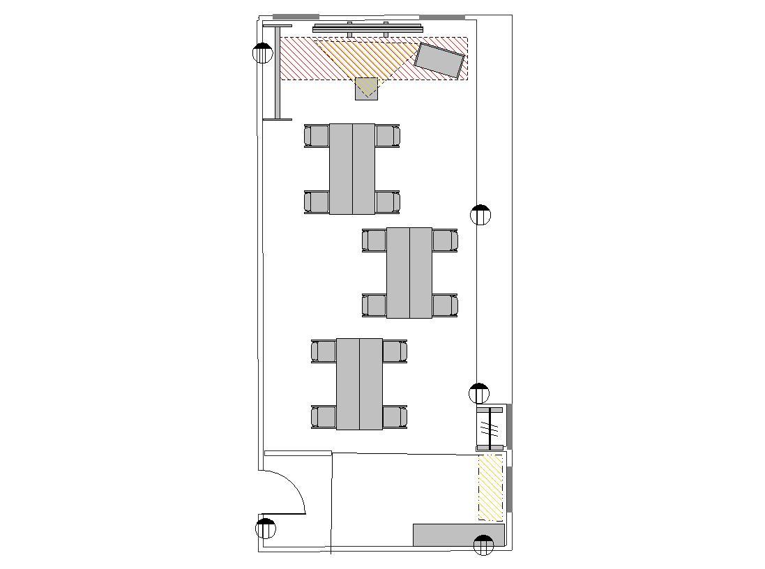 島型 プロジェクターあり:最大収容 12名