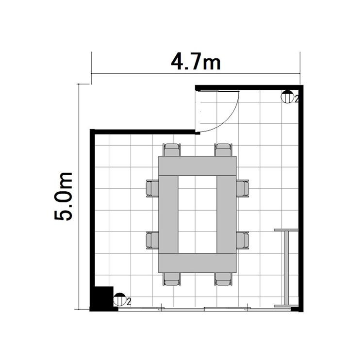 ロノ字:最大収容 8名