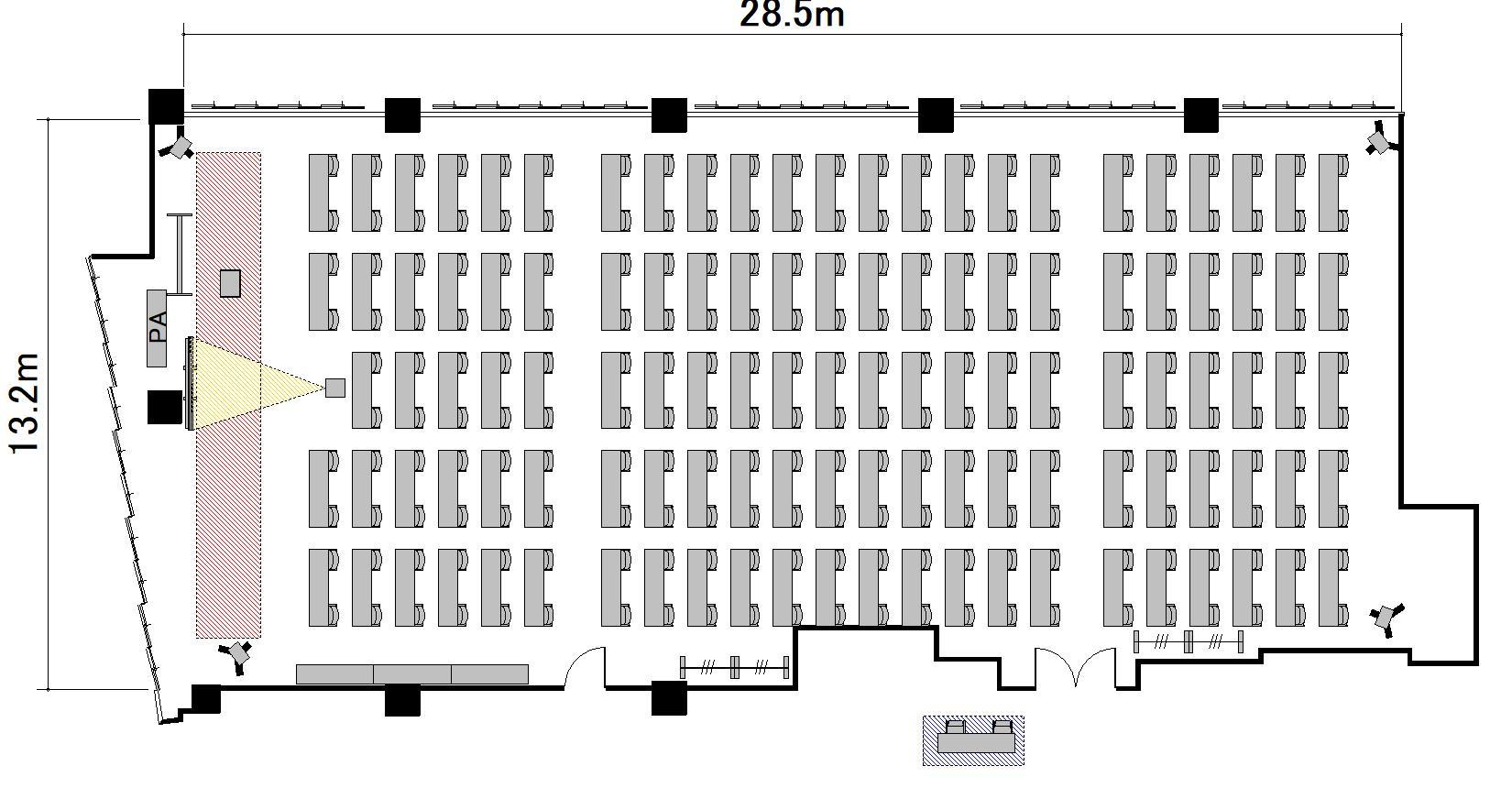 スクール プロジェクターあり:最大収容 228名