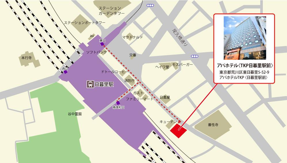 TKPカフェ&バンケット日暮里駅前アクセスマップ