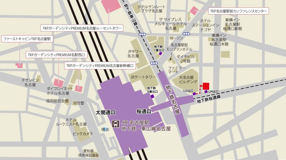 TKP名駅東口カンファレンスセンターアクセスマップ