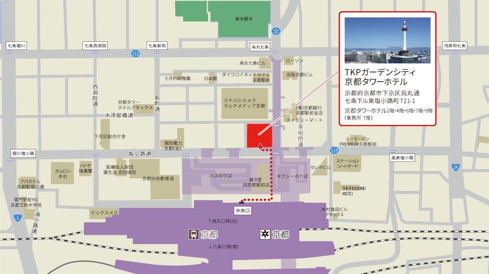 TKPガーデンシティ京都アクセスマップ