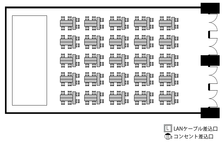 T字島:最大収容 150名