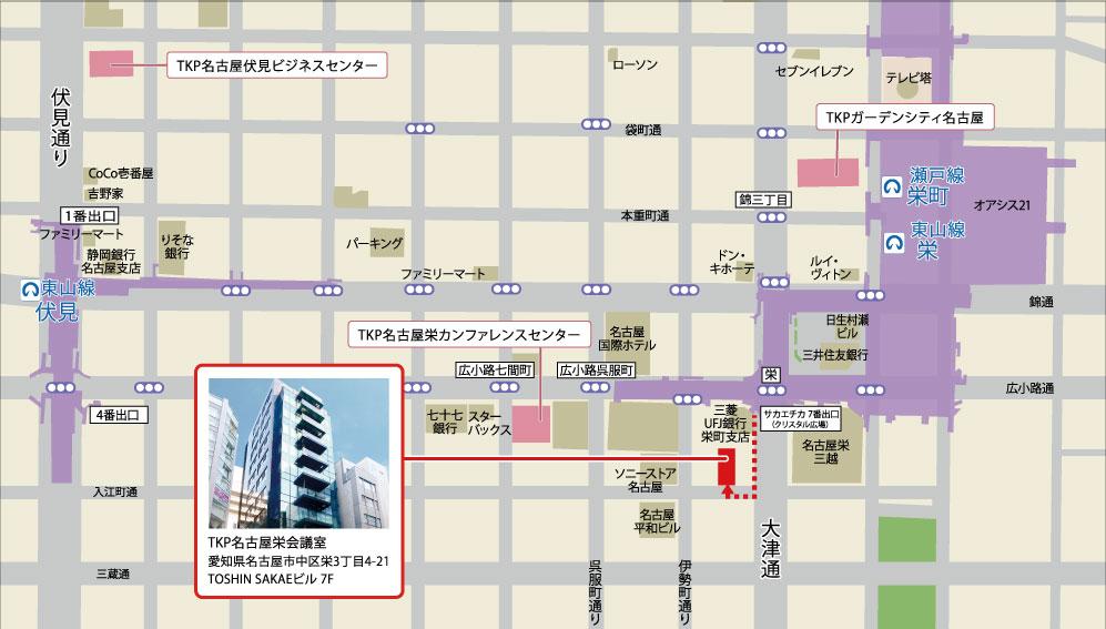 TKP名古屋栄会議室アクセスマップ