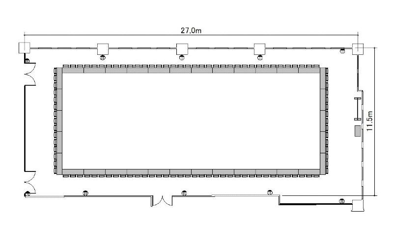 ロノ字:最大収容 68名