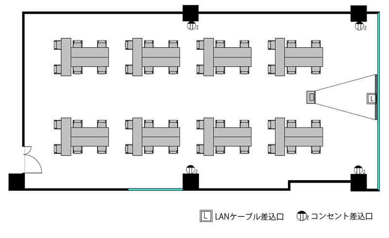 T字島 プロジェクターあり-レイアウト