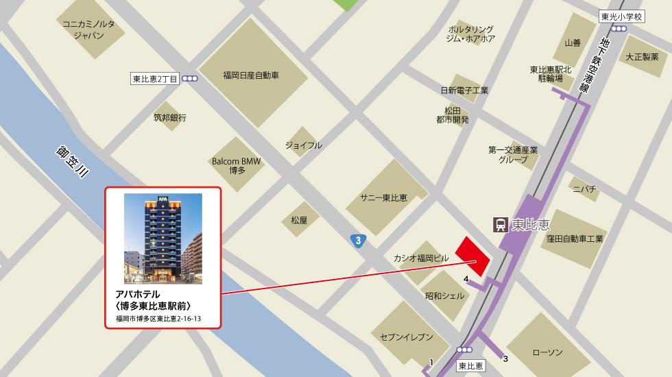 TKPカフェテリア 博多東比恵駅前アクセスマップ