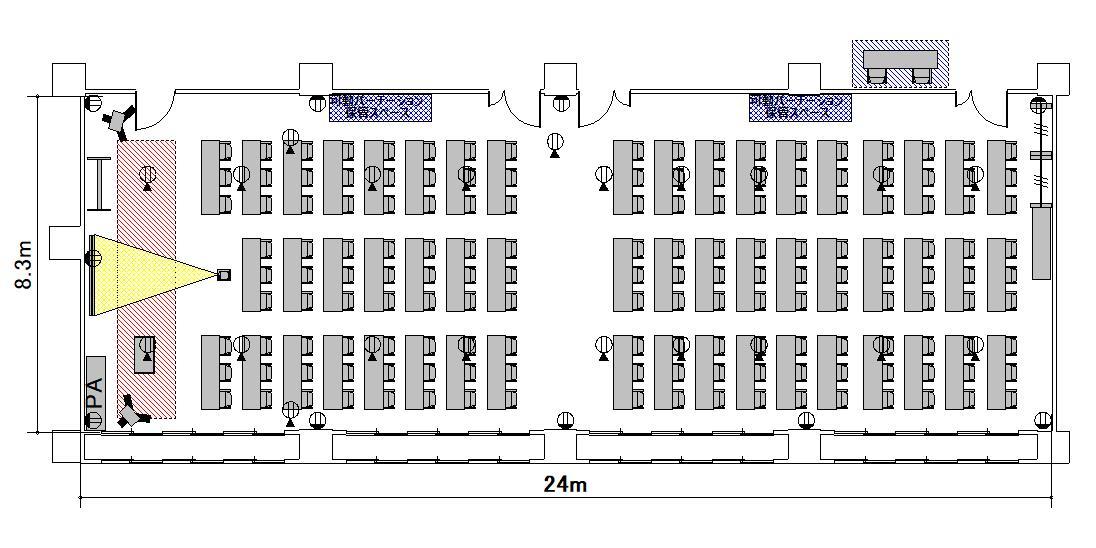 スクール プロジェクターあり:最大収容 106名