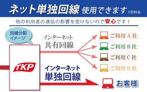 単独回線利用可 WEB会議に最適!